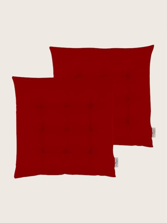 Plain coloured cushion - unisex - red - 7 - TOM TAILOR