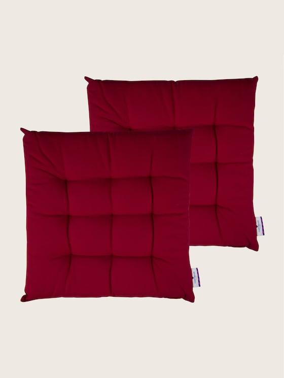 Plain coloured cushion - unisex - dk.red - 7 - TOM TAILOR