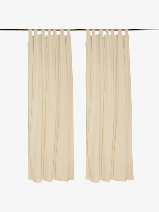 curtains with loops dove - unisex - creme - 1 - TOM TAILOR