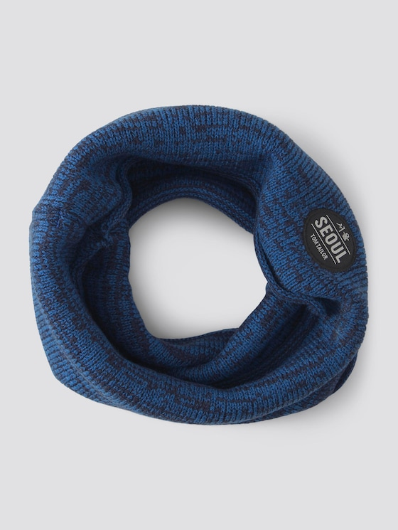 Patterned loop shawl - Boys - blue lolite|blue - 7 - TOM TAILOR