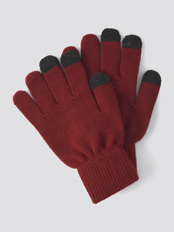 Handschuhe mit Touchscreen-Funktion - Mädchen - cabernet rose - 7 - TOM TAILOR