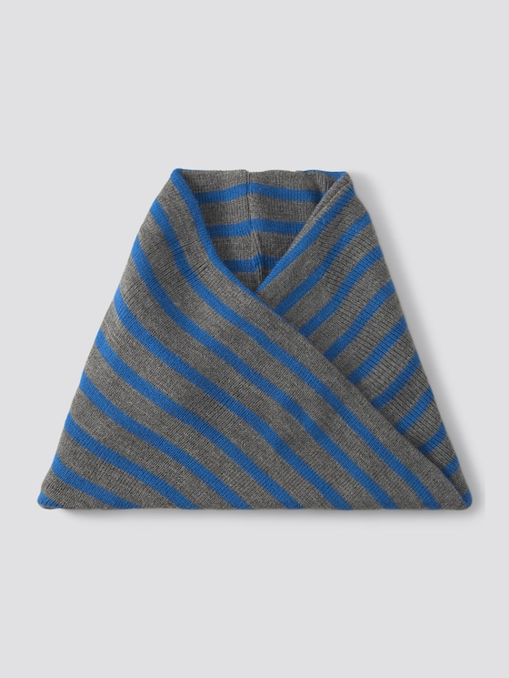 Striped loop shawl - Boys - blue lolite|blue - 7 - TOM TAILOR