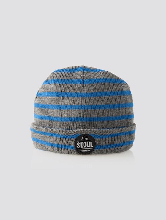 Striped beanie - Boys - blue lolite|blue - 7 - TOM TAILOR