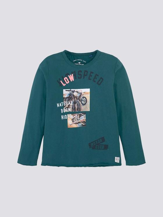Langarmshirt mit Print - Jungen - Atlantic Deep|green - 7 - Tom Tailor E-Shop Kollektion