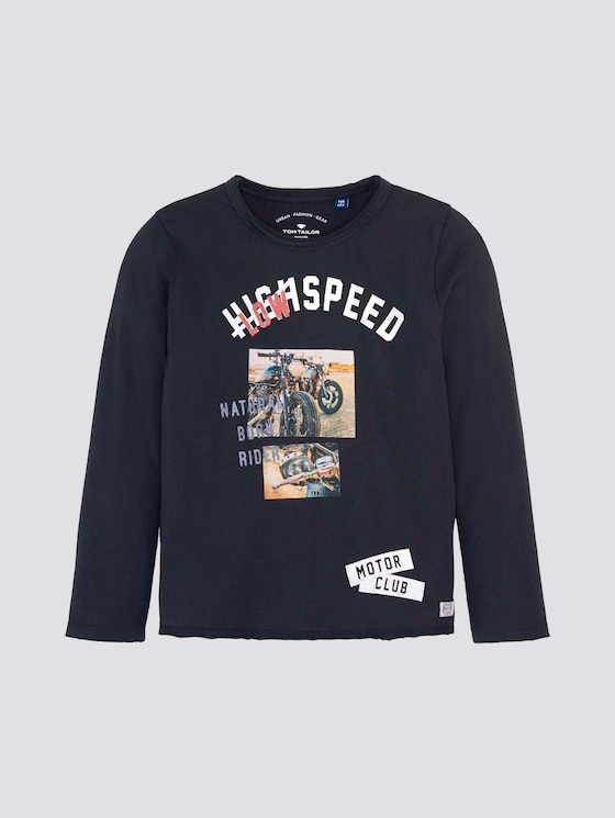 Langarmshirt mit Print - Jungen - dark navy|blue - 7 - Tom Tailor E-Shop Kollektion