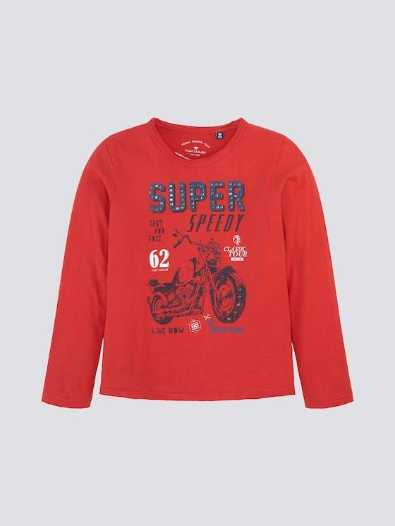 Langarmshirt mit Print - Jungen - new red|red - 7 - Tom Tailor E-Shop Kollektion