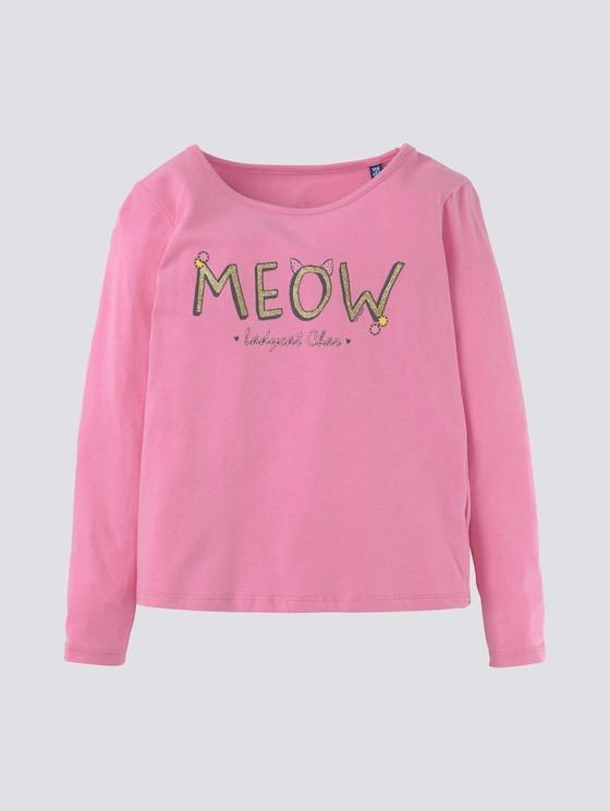 Langarmshirt mit Katzenmotiv - Mädchen - begonia pink|rose - 7 - Tom Tailor E-Shop Kollektion