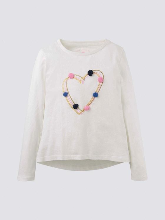 Langarmshirt mit Artwork - Mädchen - cloud dancer white - 7 - Tom Tailor E-Shop Kollektion
