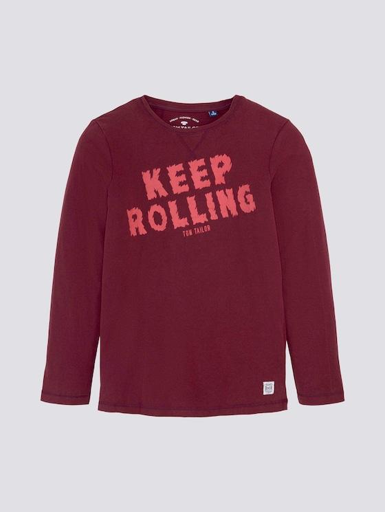 Langarmshirt mit Print - Jungen - new bordeaux|red - 7 - Tom Tailor E-Shop Kollektion