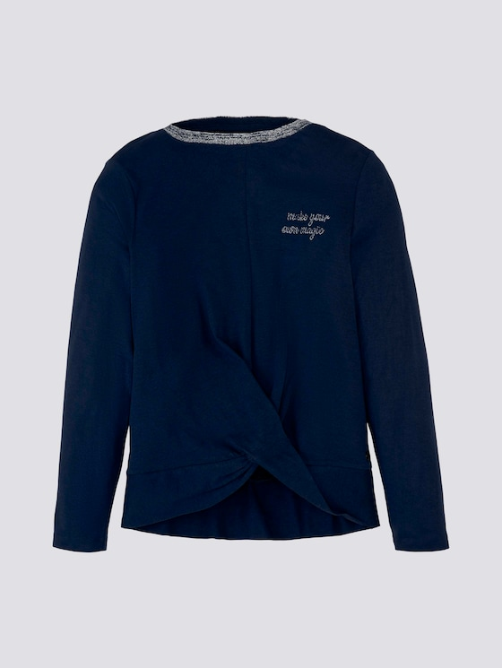 Shirt met lange mouwen en glitter - Meisjes - dress blue|blue - 7 - Tom Tailor E-Shop Kollektion