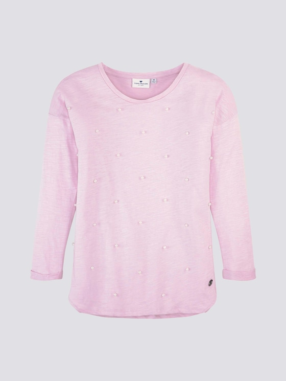 Shirt met lange mouwen en parels - Meisjes - winsome orchid|rose - 7 - Tom Tailor E-Shop Kollektion