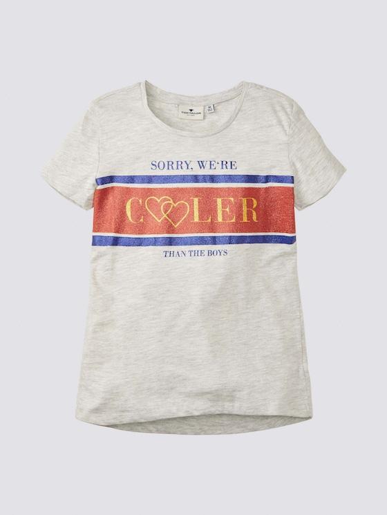 T-Shirt mit Artwork - Mädchen - lunar rock melange|beige - 7 - Tom Tailor E-Shop Kollektion