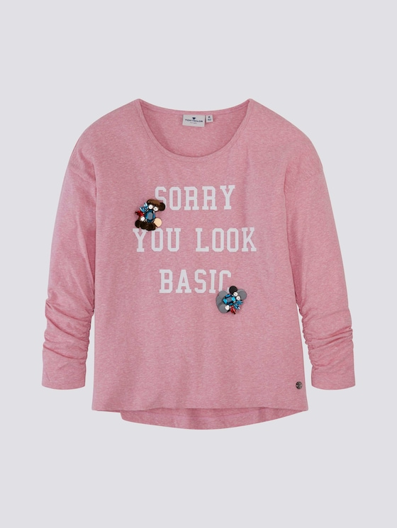 Langarmshirt mit Print - Mädchen - begonia pink|rose - 7 - Tom Tailor E-Shop Kollektion