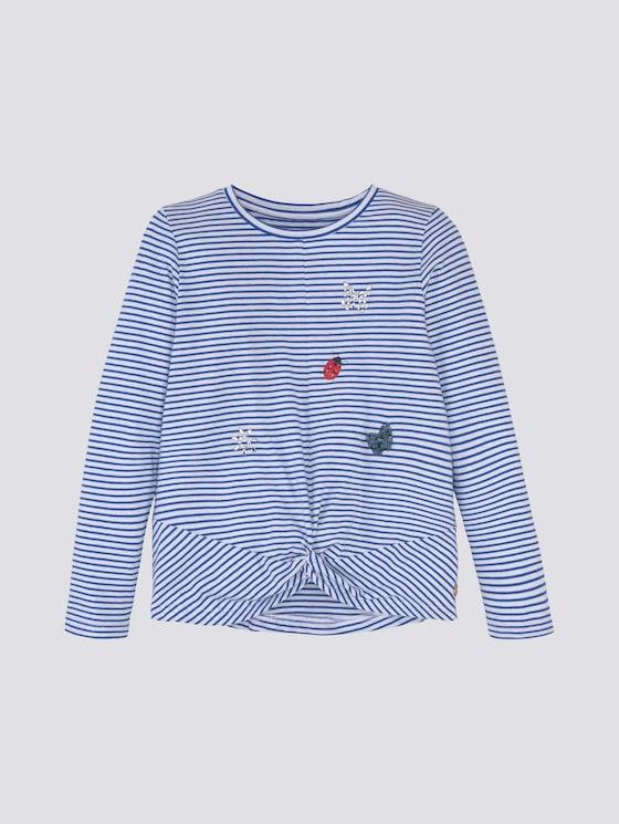 gestreiftes Langarmshirt - Mädchen - early autumn blue - 7 - Tom Tailor E-Shop Kollektion