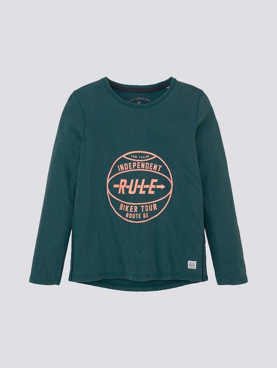 Shirt met lange mouwen en print - Jongens - Atlantic Deep|green - 7 - TOM TAILOR