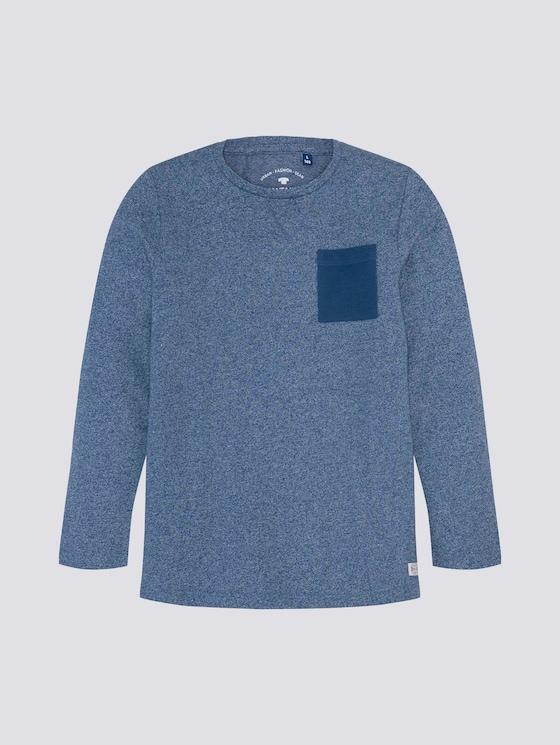 Lange mouwen shirt met borstzak - Jongens - new blue blue - 7 - TOM TAILOR