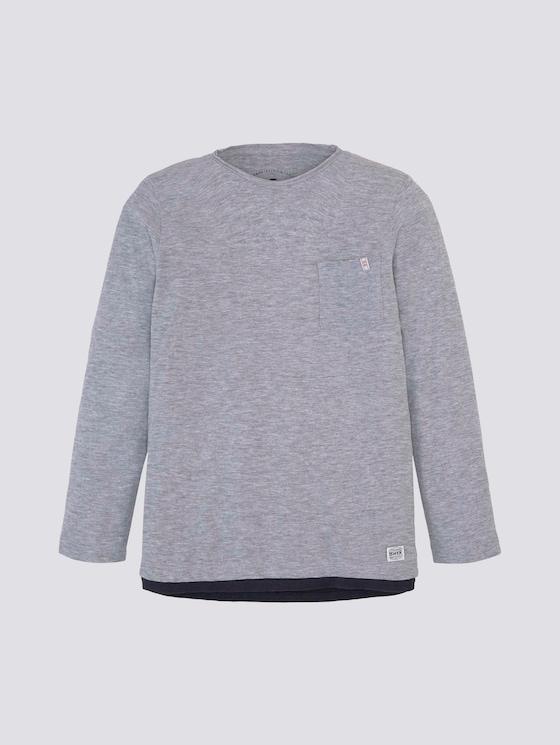 meliertes Langarmshirt - Jungen - drizzle melange|gray - 7 - Tom Tailor E-Shop Kollektion