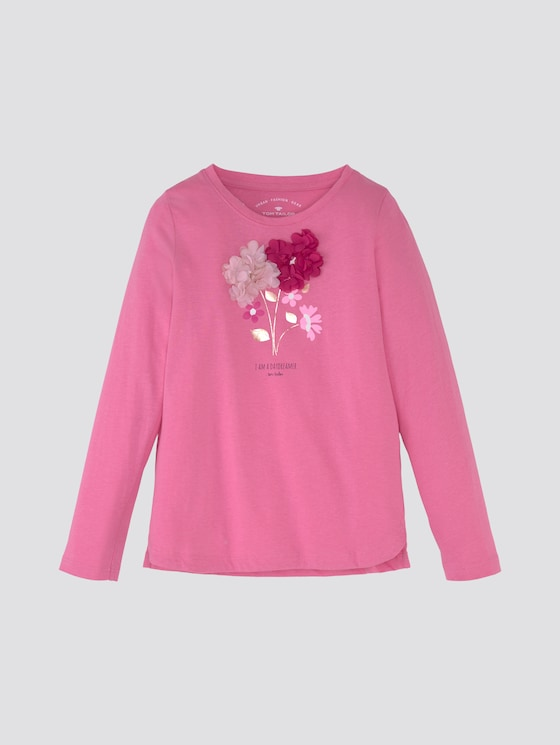 Langarmshirt mit Artwork - Mädchen - wild orchid|pink - 7 - TOM TAILOR
