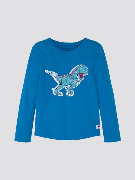 Langarmshirt mit Dino-Print - Jungen - swedish blue|blue - 7 - TOM TAILOR