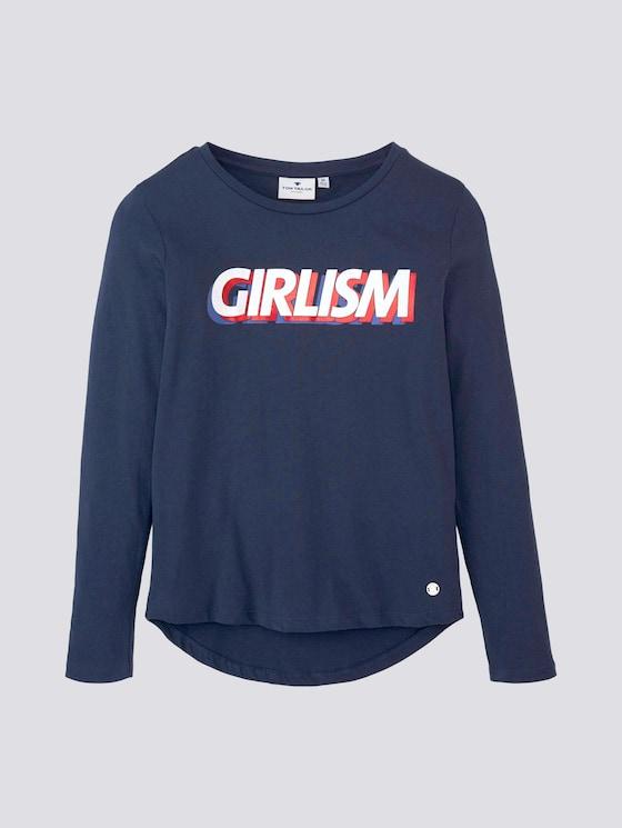 Langarmshirt mit Print - Mädchen - dress blue|blue - 7 - TOM TAILOR