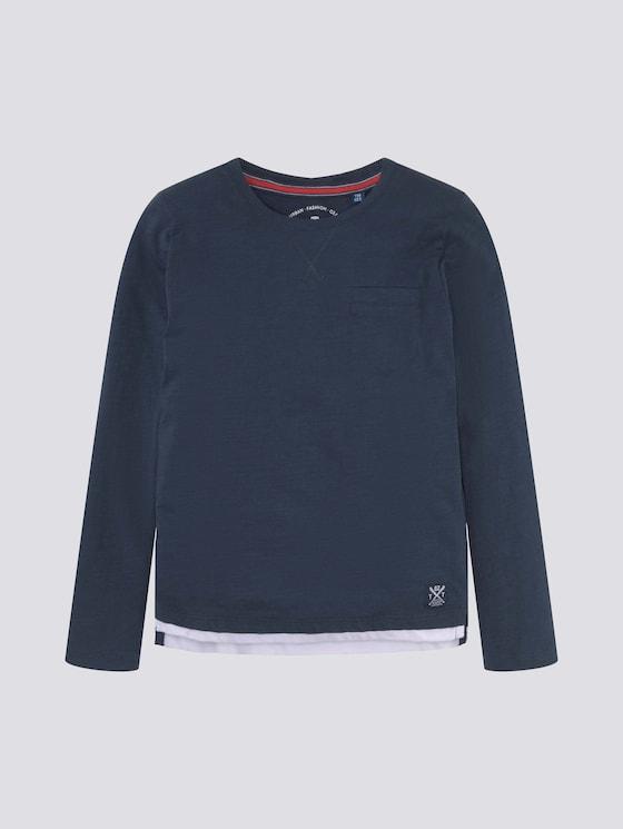 Langarmshirt mit Underlayer - Jungen - dress blue blue - 7 - TOM TAILOR