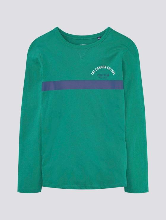 Langarmshirt mit Print - Jungen - alhambra|green - 7 - TOM TAILOR