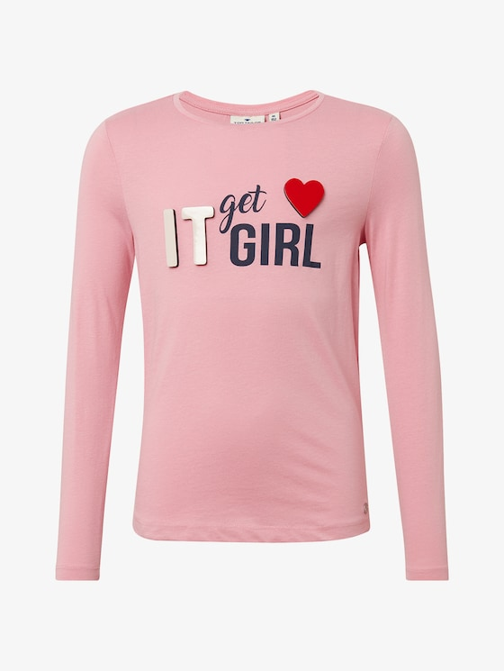 Long sleeve top with a print  - Girls - sea-pink - 7 - TOM TAILOR