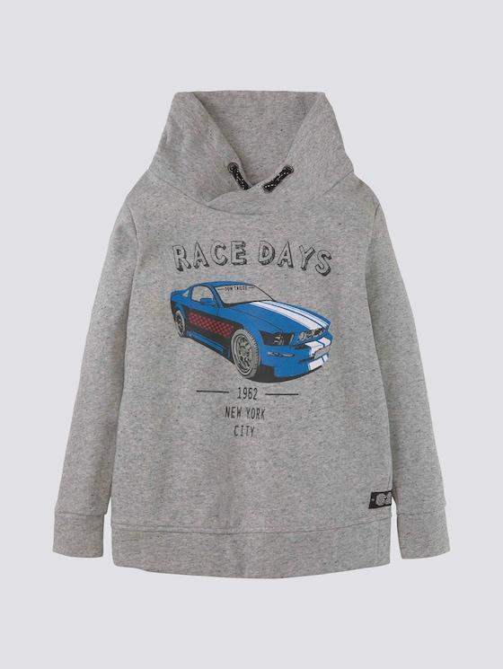 Sweatshirt mit Stehkragen - Jungen - drizzle melange|gray - 7 - Tom Tailor E-Shop Kollektion