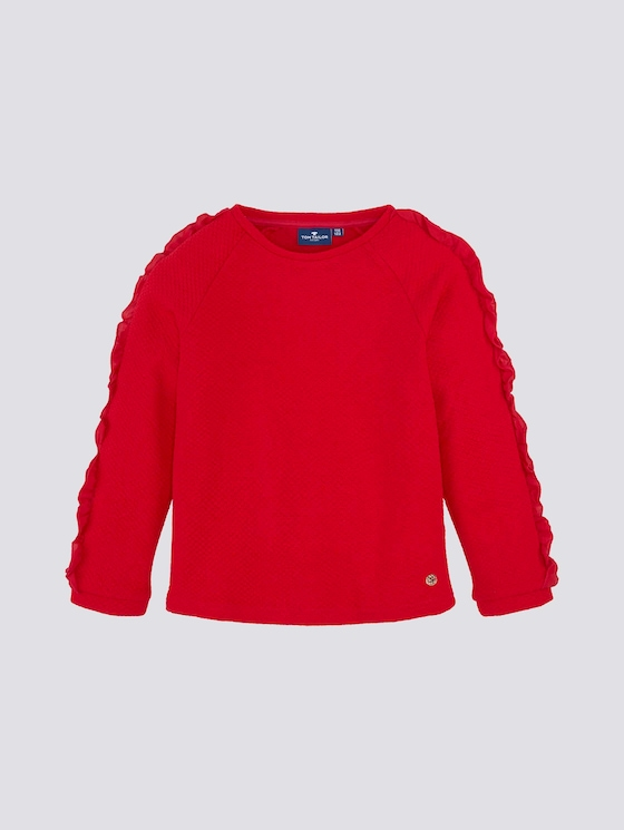 Langarmshirt mit Volants - Mädchen - toreador|red - 7 - Tom Tailor E-Shop Kollektion