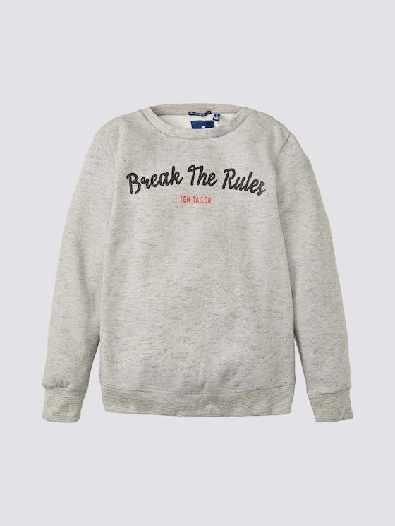 Meliertes Sweatshirt mit Print - Jungen - drizzle melange|gray - 7 - Tom Tailor E-Shop Kollektion