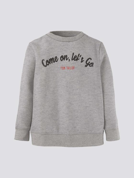 Meliertes Sweatshirt mit Print - Jungen - drizzle melange gray - 7 - Tom Tailor E-Shop Kollektion