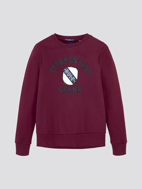 Sweatshirt mit Print - Jungen - new bordeaux|red - 7 - Tom Tailor E-Shop Kollektion