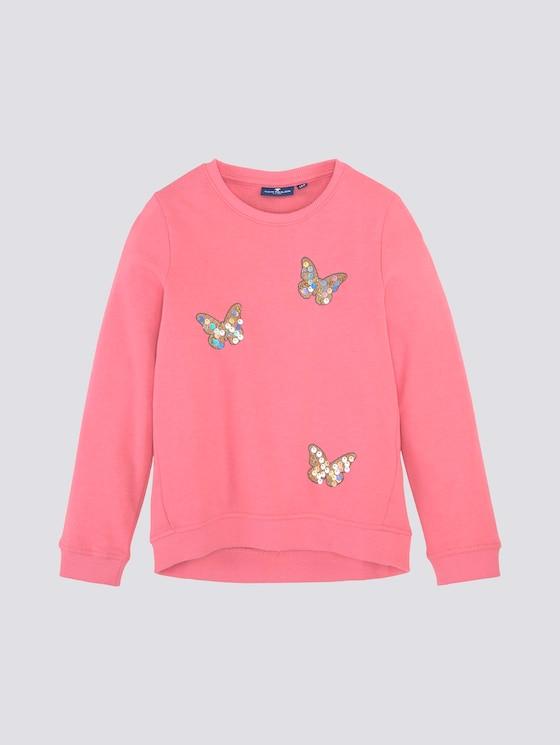 Sweatshirt mit Pailletten-Motiv - Mädchen - strawberry pink|rose - 7 - TOM TAILOR