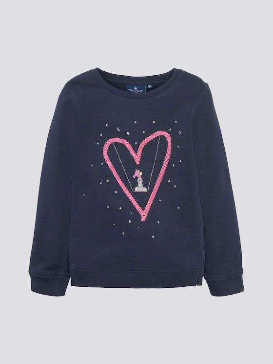 Sweatshirt mit Artwork - Mädchen - dress blue blue - 7 - TOM TAILOR