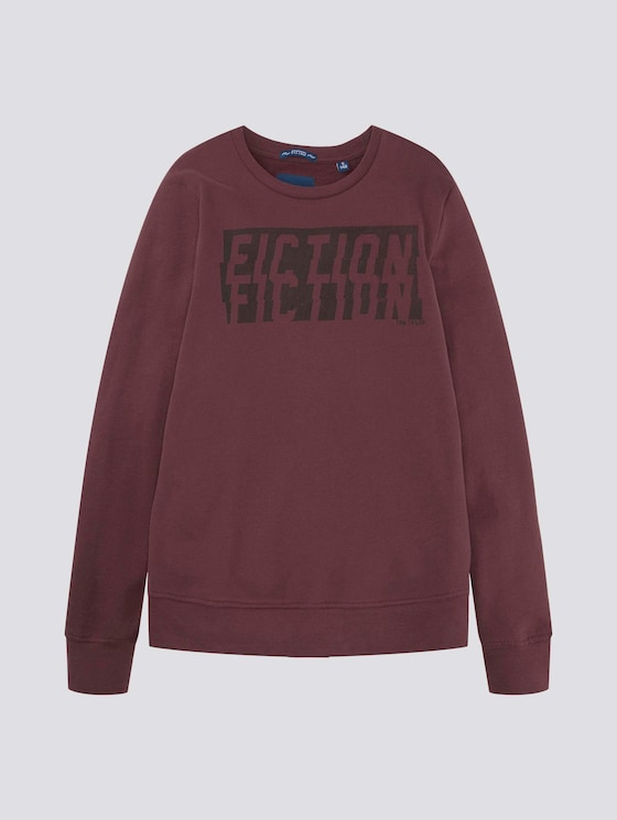 Sweatshirt mit Print  - Jungen - vineyard wine|red - 7 - TOM TAILOR
