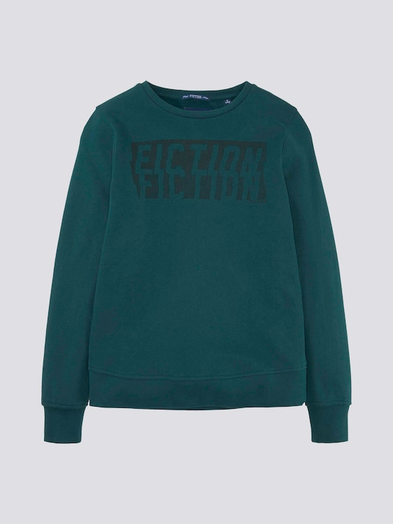 Sweatshirt mit Print  - Jungen - gleam|green - 7 - TOM TAILOR