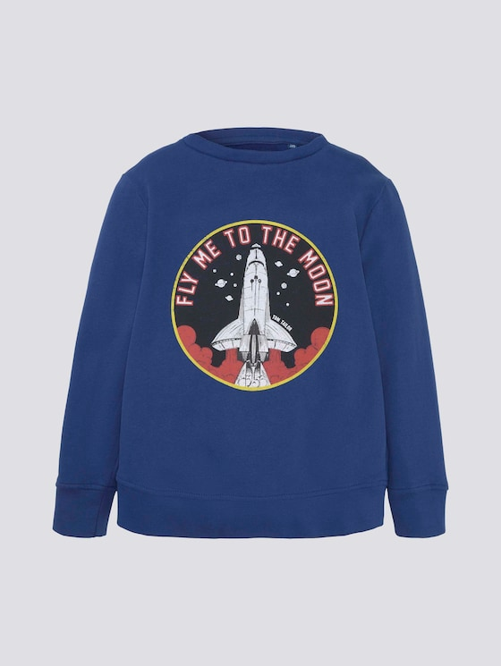 Sweatshirt mit Print - Jungen - sodalite blue|blue - 7 - TOM TAILOR