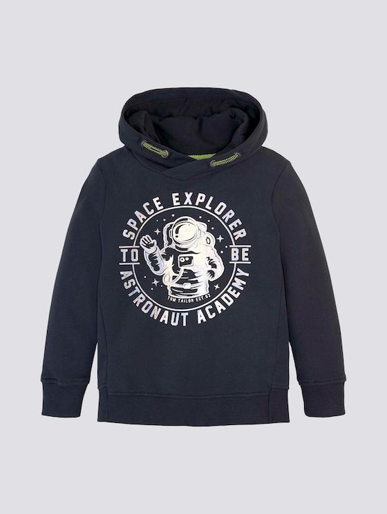 Hoodie mit Print - Jungen - vulcan gray - 7 - TOM TAILOR