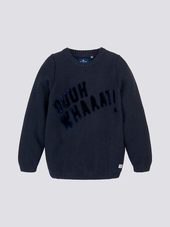 Pullover mit Schriftzug - Jungen - dark navy|blue - 7 - Tom Tailor E-Shop Kollektion