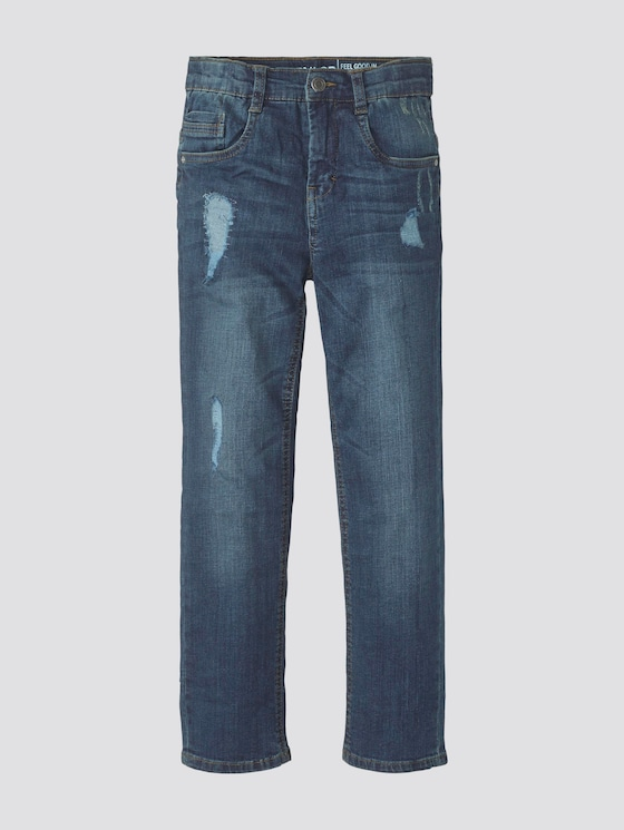 Jeans im Destroyed-Look - Jungen - dark blue denim|blue - 7 - TOM TAILOR