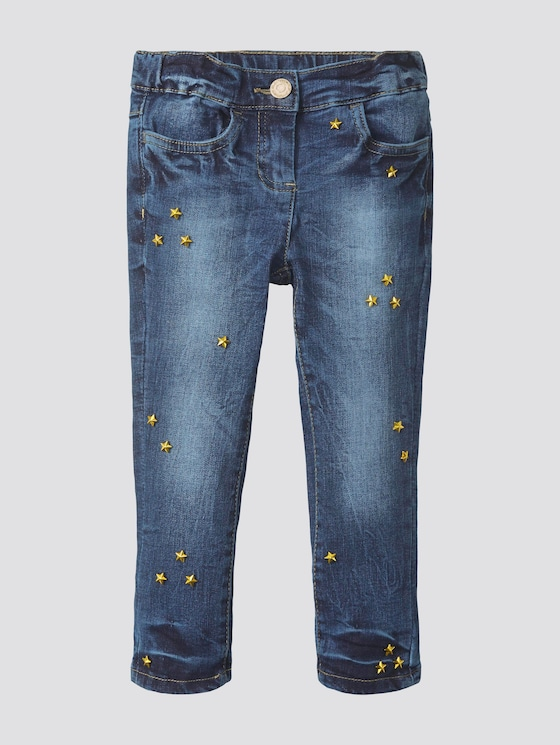 Jeans mit Nieten - Mädchen - dark blue denim|blue - 7 - TOM TAILOR