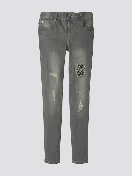 Jeans im Destroyed-Look - Mädchen - grey denim|gray - 7 - TOM TAILOR