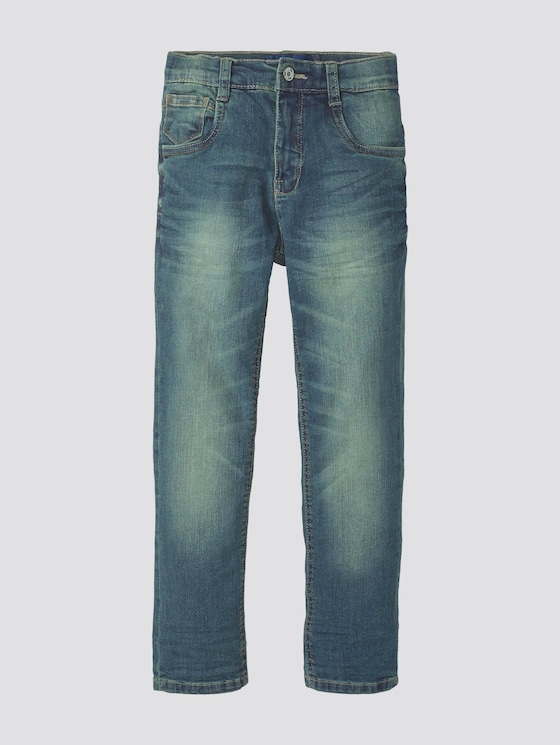 Jeans with a garment wash - Boys - superstone dirty denim|blue - 7 - TOM TAILOR