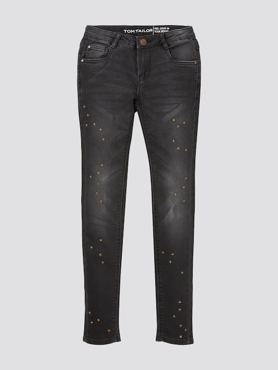 Jeans mit Nieten - Mädchen - black denim|black - 7 - TOM TAILOR