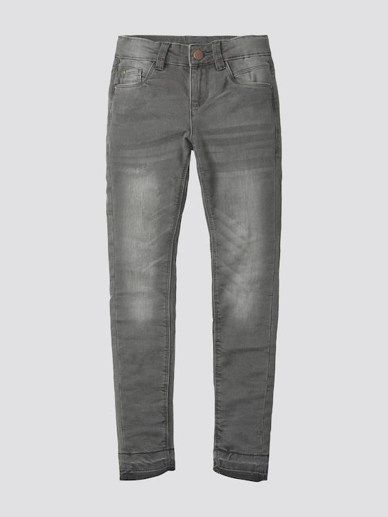 Jeans with frayed hem - Girls - grey denim|gray - 7 - TOM TAILOR
