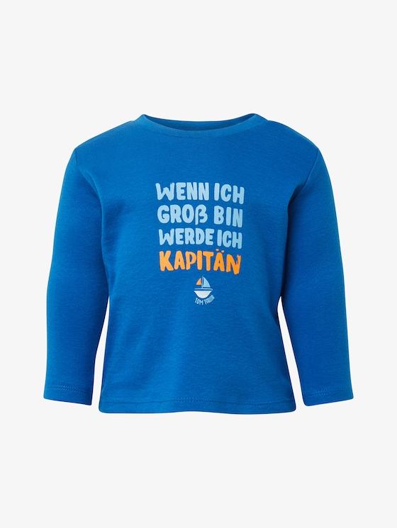 Langarmshirt mit Brust-Print - Babies - nautical blue|blue - 7 - TOM TAILOR
