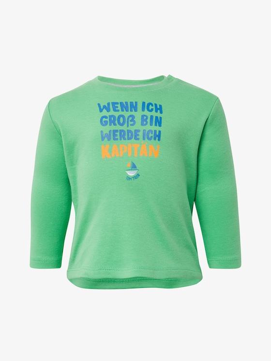 Langarmshirt mit Brust-Print - Babies - spring bouquet|green - 7 - TOM TAILOR