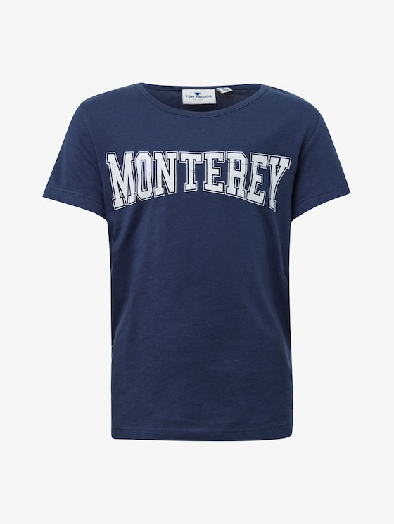 T-shirt with chest print - Girls - dress blue|blue - 7 - TOM TAILOR