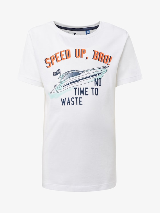 T-Shirt mit Brust-Print - Jungen - original|original - 7 - TOM TAILOR