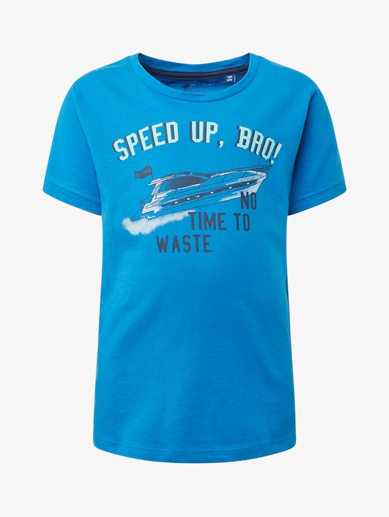 T-Shirt mit Brust-Print - Jungen - brilliant blue|blue - 7 - TOM TAILOR